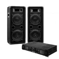 Комплект Electronic-Star DJ-25A, стерео-усилитель, пара пассивных динамиков