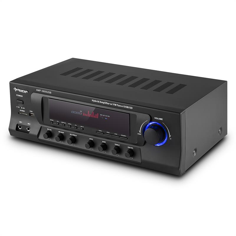 5.1-канальный ресивер Auna AMP-3800 USB 600W макс. USB SD FM