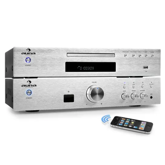 Комплект Auna Elegance Tower BT 2.0 HiFi MP3 CD усилитель 600W