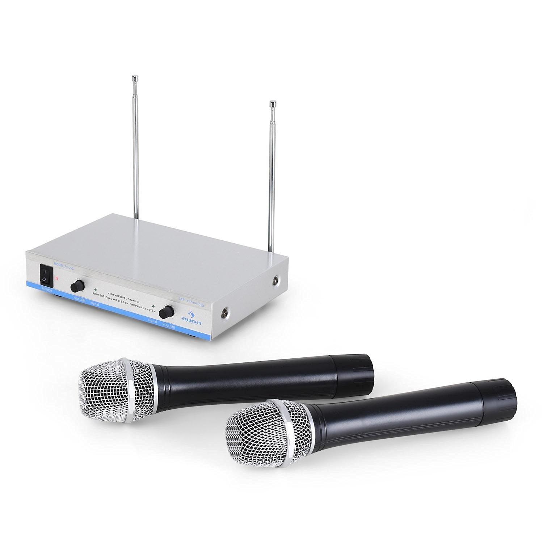 Набор беспроводных микрофонов AUNA FU-2-S2 VHF SLV