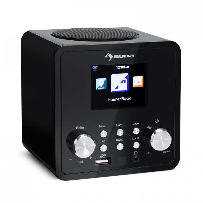 Интернет-радио Auna IR-120 WLAN DNLA UPnP App-Control  Black DMA10