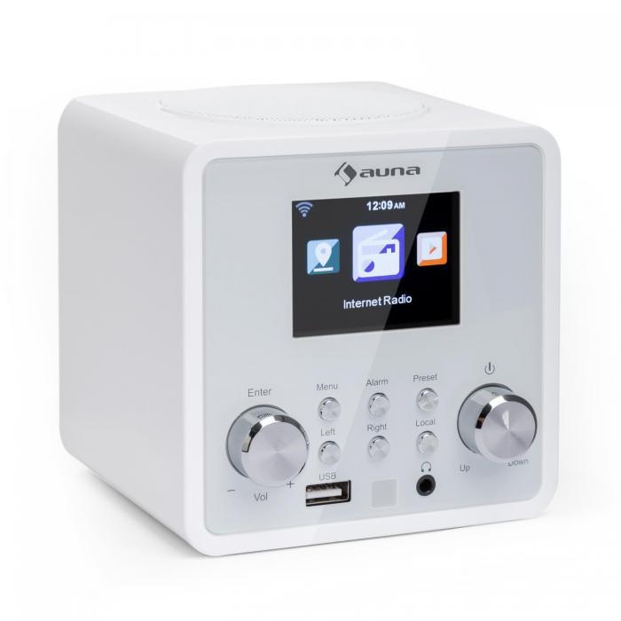 Интернет-радио Auna IR-120 WLAN DNLA UPnP App-Control White DMA10
