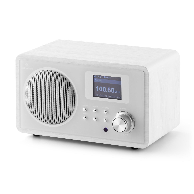 Интернет-радио Auna IR-150 FM DLNA WLAN Retro Remote White