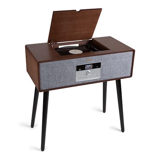 Музыкальный центр, проигрыватель винила Auna Julie Ann стерео CD BT USB DAB + / FM AUX-In Wood