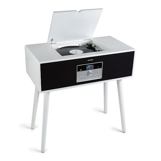 Музыкальный центр, проигрыватель винила Auna Julie Ann стерео CD BT USB DAB + / FM AUX-In White