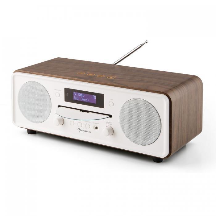 Настольный радиоприемник CD-плеер Auna Melodia CD DAB + / FM Bluetooth Будильник WD DM1