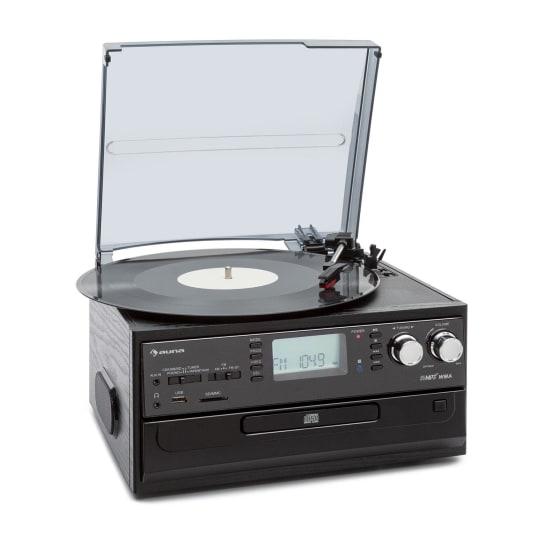 Музыкальный центр ретро-стереосистема Auna Oakland Retro Stereo System FM BT Винил Кассета CD VTA0
