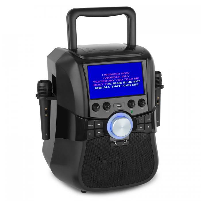 Музыкальная караоке-система Auna Stage Hero Bluetooth DVD 7 TFT 2 micro battery