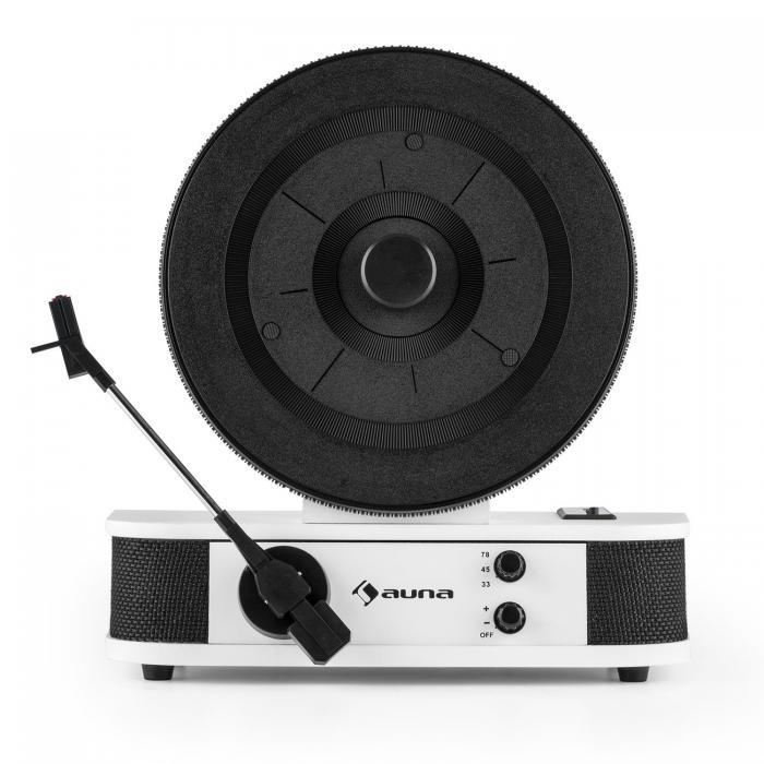 Вертикальный проигрыватель винила Auna Verticalo S ретро дизайн USB MP3-Line White