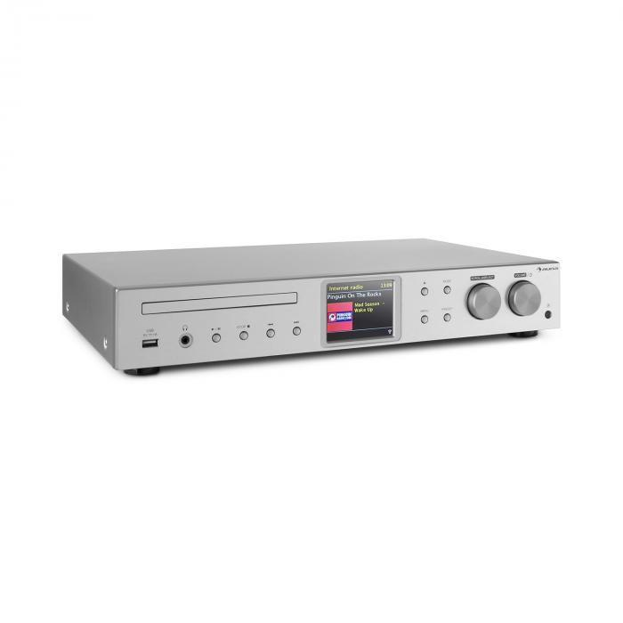 HiFi ресивер Auna iTuner CD WiFi интернет, DAB +, FM Радио Silver