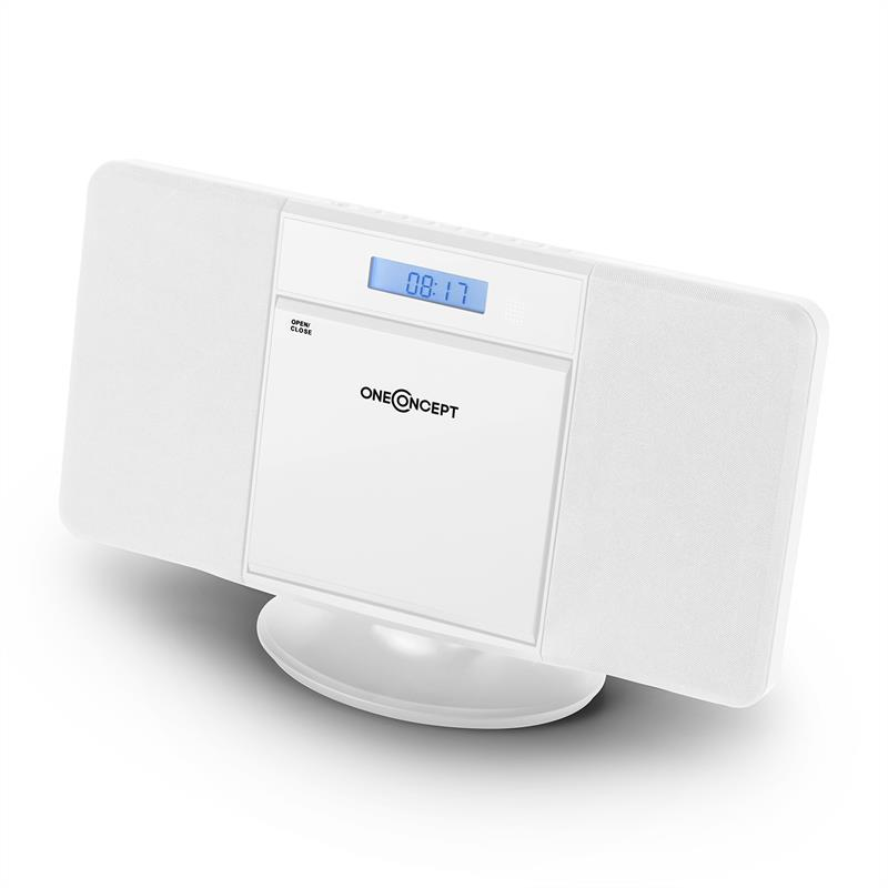 Вертикальная стереосистема OneConcept V-13 BT CD MP3 USB FM White