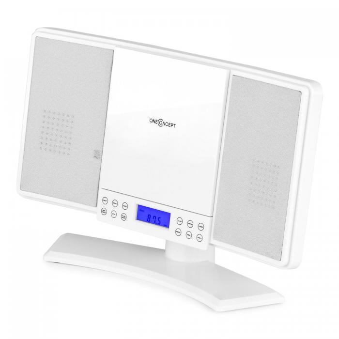 Вертикальная стереосистема  ONEconcept V-14 AM / FM CD MP3 AUX White