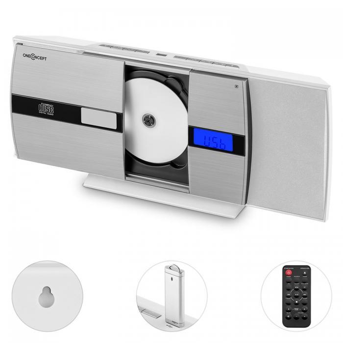 Вертикальная стереосистема  oneConcept V-15-BT Bluetooth CD USB MP3 FM