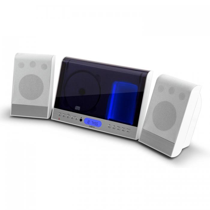 Вертикальная стереосистема OneConcept Vertical 90 Стерео CD USB MP3 SD AUX White