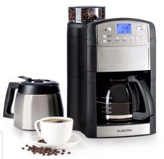Кофеварка с интегрированной кофемолкой Klarstein Aromatica Set Mahlwerk DUO SLV