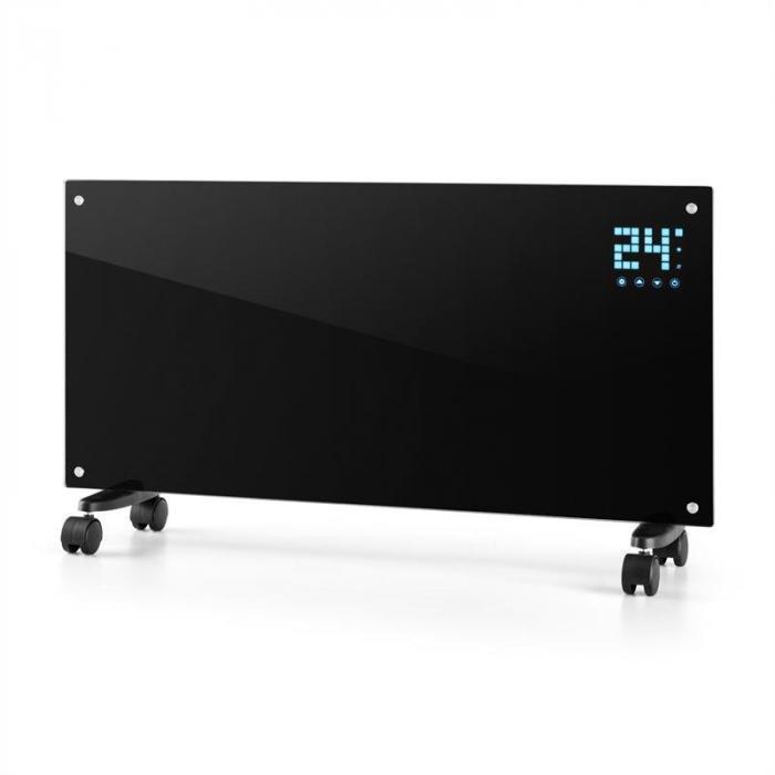 Конвекционный нагреватель Klarstein Bornholm 2 режима нагрева: 1000/2000 Вт Светодиодный дисплей Таймер до 40 м²  Напольный Black VT2