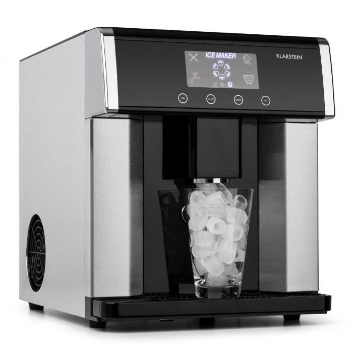Генератор льда Klarstein Eiszeit Ice Cube из нержавеющей стали, 3 размера капсул Silver L2040DMDFNP