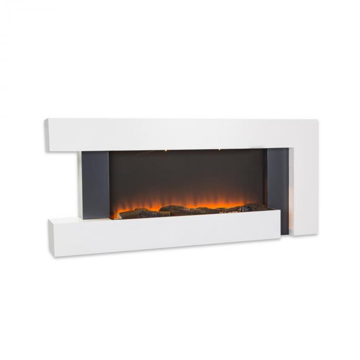 Электрический камин Klarstein Studio Light & Fire 2 1000/2000W MDF Пульт ду White