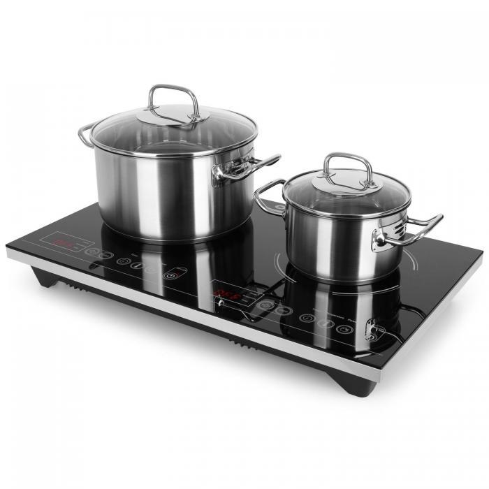 Двойная индукционная варочная плита Klarstein VariCook XL 3100 Вт Таймер 240 ° C Touch