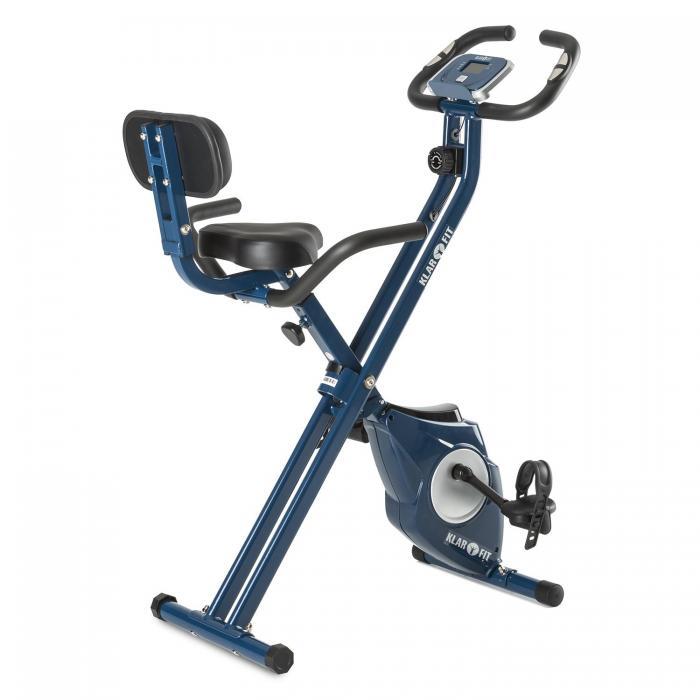 Велотренажер Klarfit Azura Pro X-Bike blau, монитор сердечного ритма, 100 кг