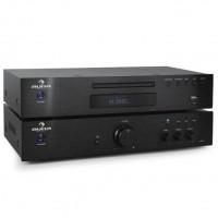 Комплект Auna Elegance Tower  2.0 HiFi-Set MP3-CD-Player усилитель 600W Black