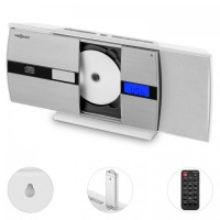 Вертикальная стереосистема  oneConcept V-15-BT Bluetooth CD USB MP3 FM White VTNW