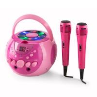 Портативная система караоке Auna Singsing LED 2 х микрофон Pink
