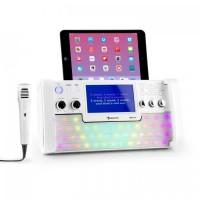 "Караоке-система Auna DiscoFever LED Bluetooth 7 ""TFT-Screen CD USB White"