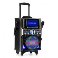 Музыкальный центр  Auna DisGo Box 360 Party BT System 2 HDMI BT LED USB караоке