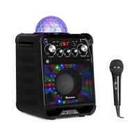 Караоке система Auna Rockstar LED CD-проигрыватель Bluetooth AUX BK