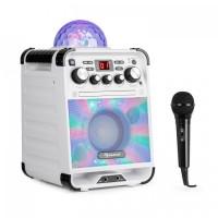 Караоке система Auna Rockstar LED CD-проигрыватель Bluetooth AUX WH VT