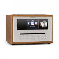Интернет-радио Auna Silver Star CD Cube Radio Bluetooth HCC дисплей Wood DMA20