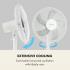 Напольный вентилятор Klarstein Flex Stream Fan 8 уровней скорости, таймер  V1068FVT