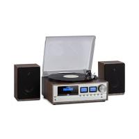Музыкальный центр ретро-стереосистема Auna Oxford DAB + / FM BT Винил CD AUX-In