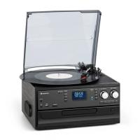 Музыкальный центр ретро-стереосистема Auna Oakland DAB + / FM BT Vinyl CD Tape