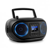 Интернет-бумбокс AUNA Roadie Smart Boombox DAB / DAB + FM CD-плеер LED WiFi Bluetooth