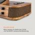 Вертикальный проигрыватель винила Auna Verticalo SE USB BT Line-Out Wood USDMG-4