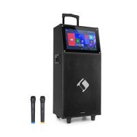 Активная акустическая караоке-система auna Pro KTV с сенсорным экраном 15,4 дюйма, 2UHF MIC, Wi-Fi, BT, USB, SD, HDMI VT1/3