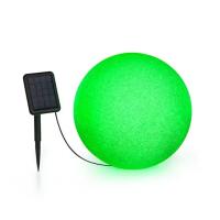 Садовый шар светильник Blumfeldt Shinestone Solar 40 солнечная панель Ø40см RGB-LED батарея IP68 серый вереск