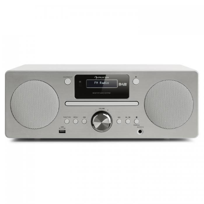 Микросистема Auna Harvard DAB / DAB + FM-тюнер CD-плеер USB WH