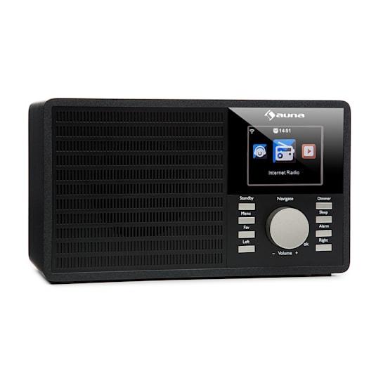 """Интернет-радио Auna IR-160 WLAN USB AUX UPnP 2,8 """"TFT-дисплей BK VTA10"""