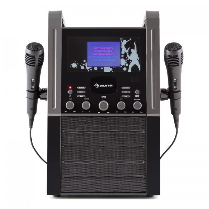 Караоке-система AUNA KA8P-V2 BK CD-плеер AUX 2 x микрофон Black VT1