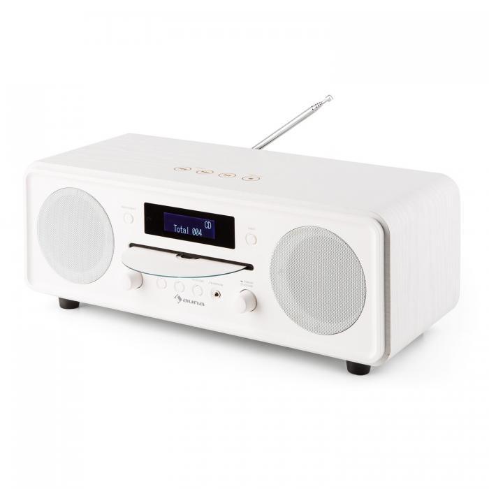 Настольный радиоприемник CD-плеер Auna Melodia CD DAB + / FM Bluetooth Будильник WH VT2