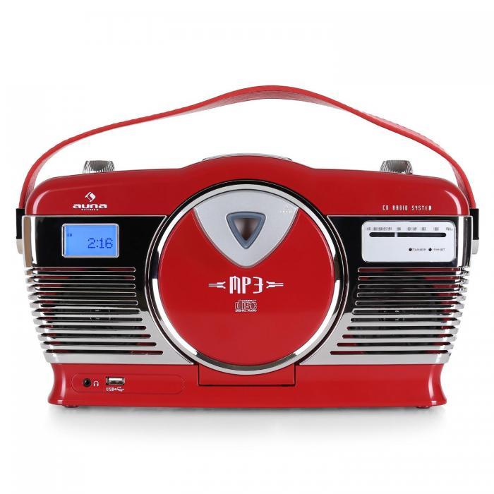 Ретро радио Auna RCD-70 FM USB CD RED