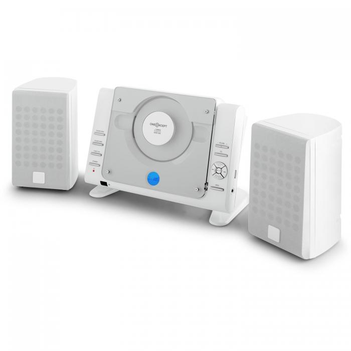 Вертикальный стереопроигрыватель oneConcept Vertical 70 CD USB MP3 AUX White