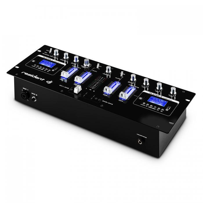4-канальный DJ-микшер Resident Dj DJ405USB 2 х Bluetooth USB SD AUX REC