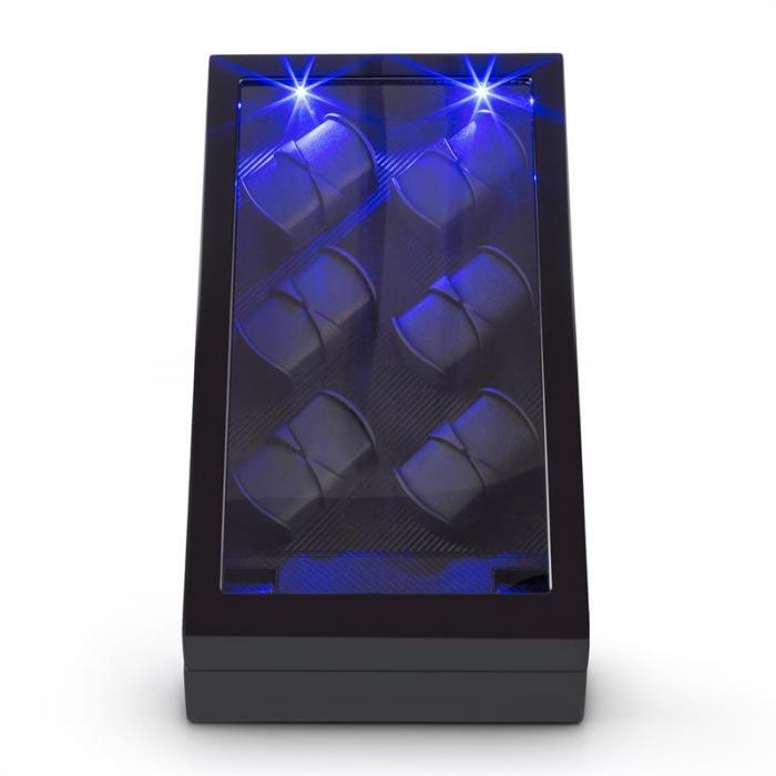 Вращатель часов Klarstein Klingenthal Watchwinder Right-Left-Run 12 часов LED Touch Black