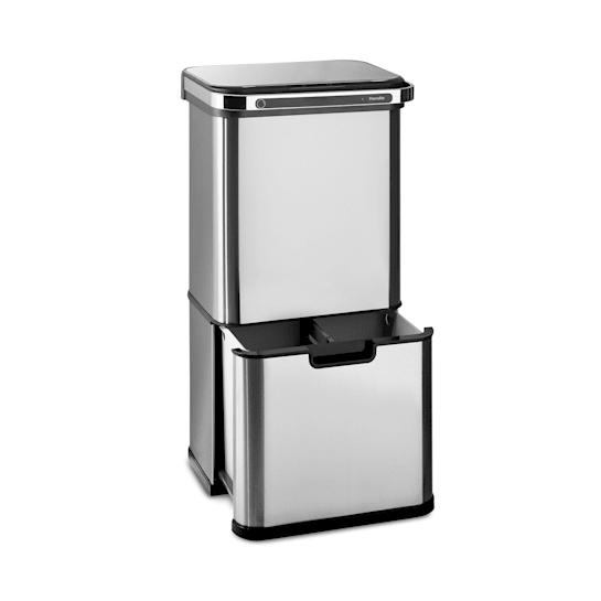 Бесконтактная мусорная корзина Klarstein Trash Bin Ozone 60L из нержавеющей стали DMUSA10
